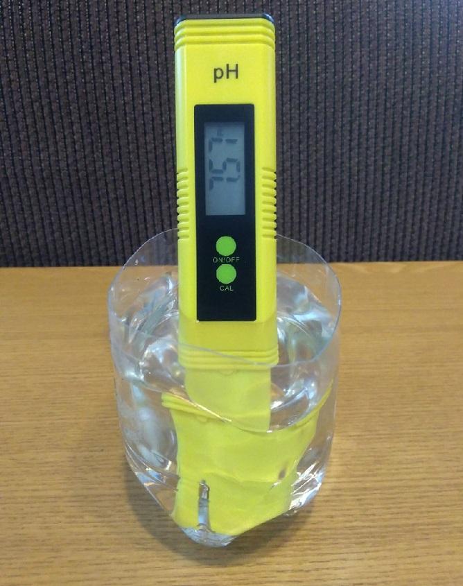 水道水pH校正前